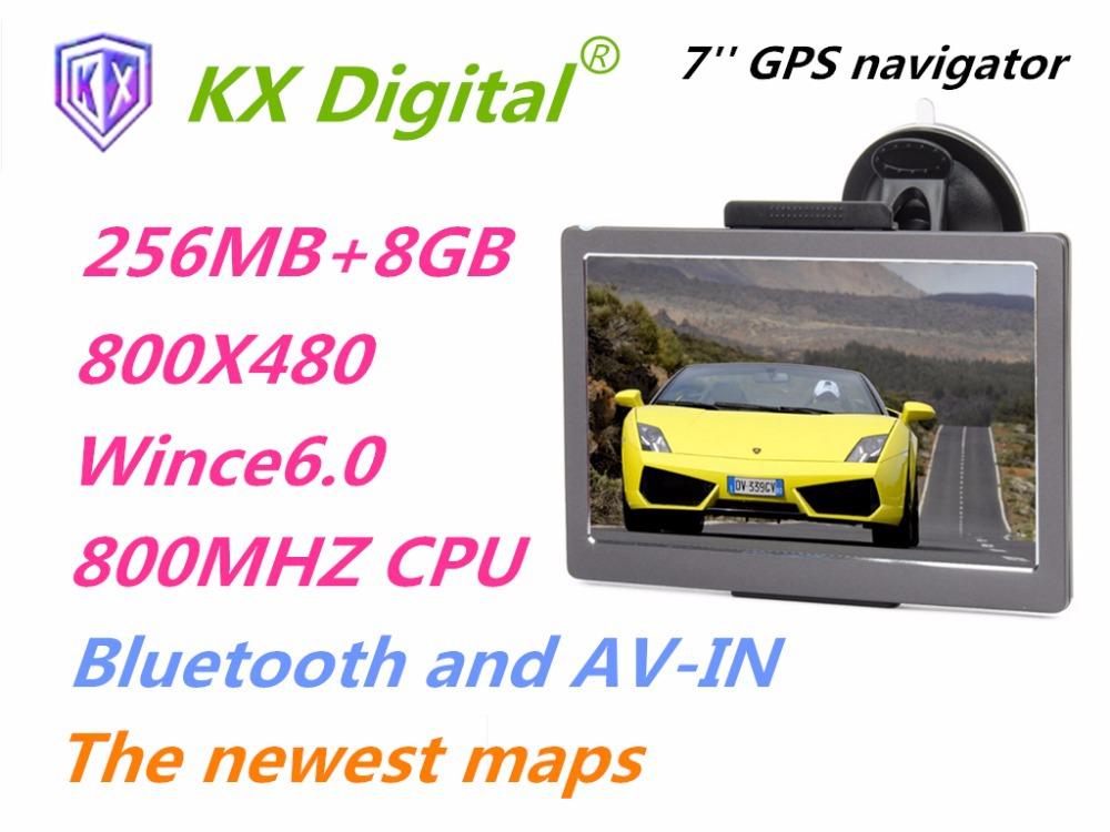 7 inch portable car GPS navigation with BT+AVIN,navigator 256MB+8GB,support multi language/IGO8 IGO9 NAVITEL maps of all country(China (Mainland))