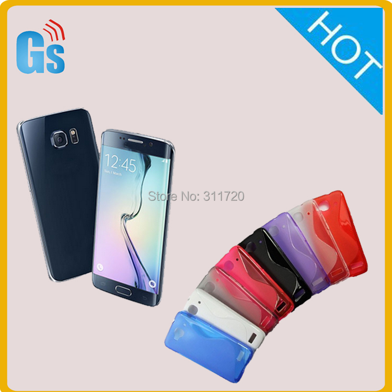 Premium Flexible Strong TPU S Line Soft Gel Case For Samsung Galaxy S6 Plus(China (Mainland))