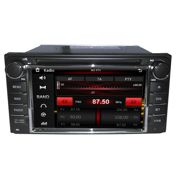 "6.2"" In dash head unit car dvd player gps for RAV4 corolla camry Vios Hilux for toyota universal dvd subwoof(China (Mainland))"