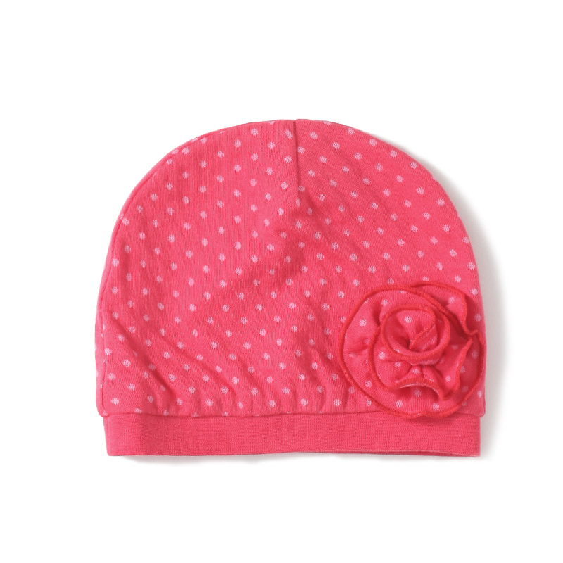 GOTS Certificate 1pc 2-Tier Jersey 100% organic cotton baby girls hat caps head wear cute flowers infant hats(China (Mainland))