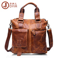 JOYIR 100 Genuine Leather Briefcase Shoulder Tote Messenger Bags Men Business Laptop Handbags Crossbody Bags For