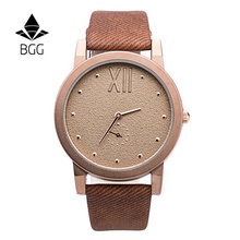 Bgg Famous Brand Women Watch Factory Direct Price Canvas Design Leather Strap Watch Abrasive Dial Men Women Watch Fashion Watch(China (Mainland))