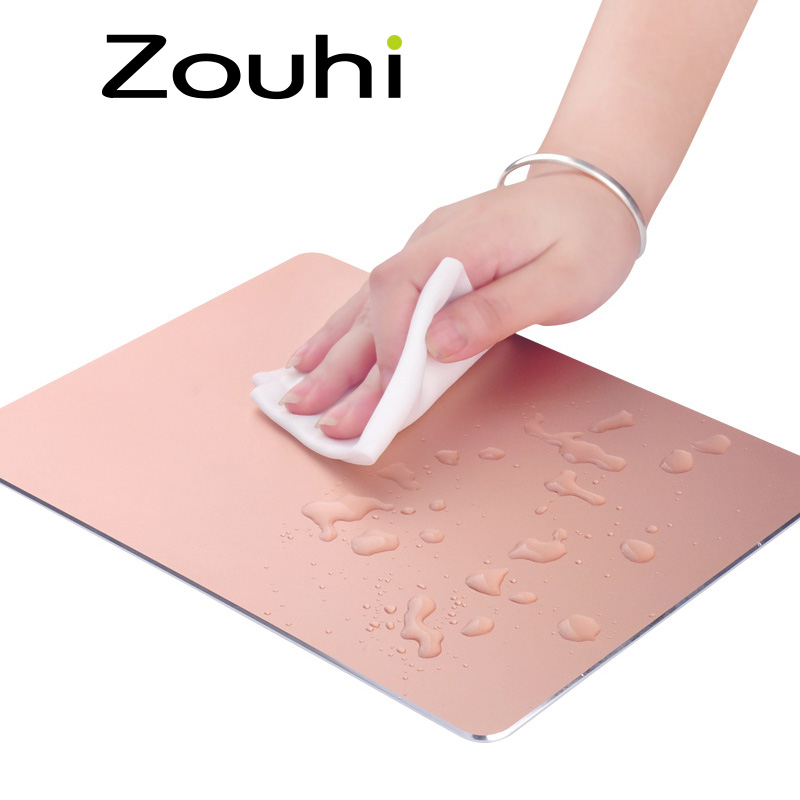 New Arrivel Aluminium Alloy Waterproof Mouse Pad Gaming Mouse Mat Creative Metal Mousepad 4 Colours For Office Home School(China (Mainland))