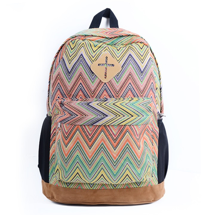 Hot Sales Ladies Girls Floral Nationality Canvas Backpack Schoolbag Travel Backpack Vintage 8 Colors 38(China (Mainland))