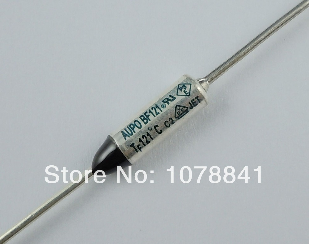 100 Pcs Per Lot AUPO Thermal Fuse Cutoff TF 121 Degree 250V 10A BF121