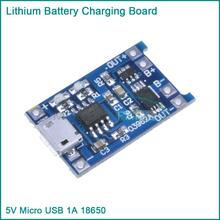 5PCS Micro USB 5V 1A 18650 Lithium Battery Charger Board With Protection Module