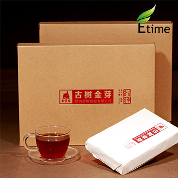 pu er New to Sale Special Grade Ancient Gold Bud Ripe Brick puerh tea Fragrant Aroma