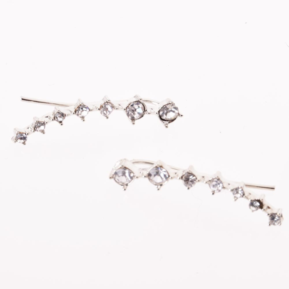 lackingoneTop Quality bijoux 2015 New Four Prong Setting 7pcs CZ Diamonds 18K Gold Plated Ear Hook Stud Earrings diamond Jewelry(China (Mainland))