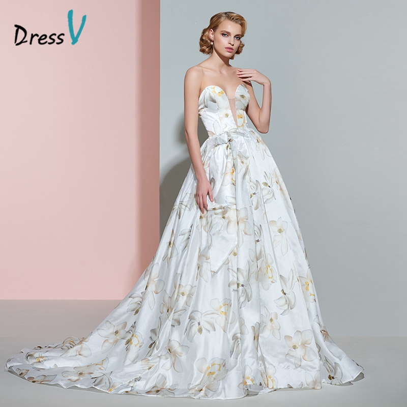 Dressv sweetheart printing wedding dress ball gown court train floor length zipper up long wedding dresses vintage bridal gown(China (Mainland))