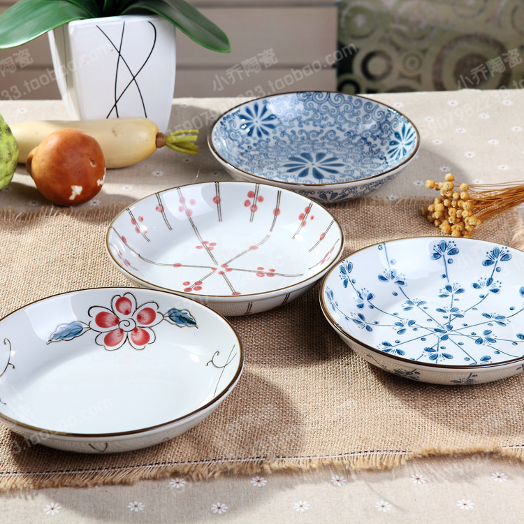 Ceramic plates cutlery sets creative disc rice dish a generation of fat(China (Mainland))