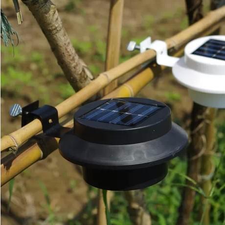 Здесь можно купить  4Pcs / Lot 3-LED Solar LED Rechargeable Fence Gutter Light -Black  Свет и освещение