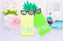 Cool Summer VS Pineapple with Sunglass silicon case for iPhone 6 plus Mobile Phone Case Back Cover Shell Free Shipping