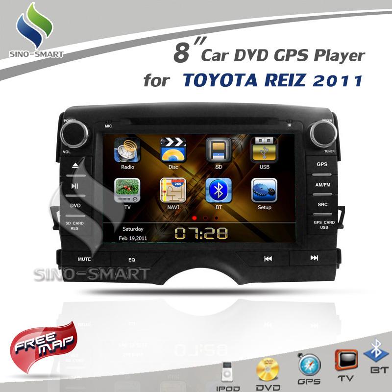 Pour TOYOTA REIZ Mark X 2010 - 2011 8.0 '' voiture DVD GPS navigation iPod Radio BT TV CE / ROHS / FCC certifié 4 Gmap(Hong Kong)