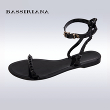 BASSIRIANA – women's Jelly cross-strap Sandal for summer, Top-sale womens Back strap shoes, 35-40, free shipping