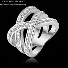 Latest Design Brand Ring Real Platinum Plated Genuine SWA Stellux Austrian Crystal Luxury Ring For Women Ri-HQ0120-b(China (Mainland))