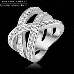 Latest Design Brand Ring Real Platinum Plated Genuine SWA Stellux Austrian Crystal Luxury Diamante Lighter Ring For Women