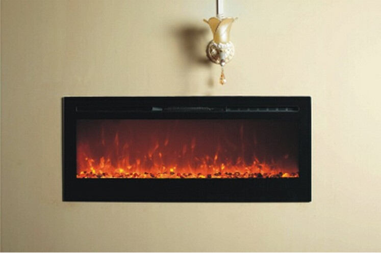 Decor flame electric fireplace wall mounted in electric for Decor flame electric fireplace