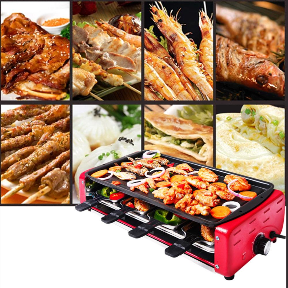 1Pc Non-stick GT-Lite 2015 Household Electric Grill BBQ Electric Oven Smokeless Barbecue Machine Kebab Electric Plancha Erover(China (Mainland))