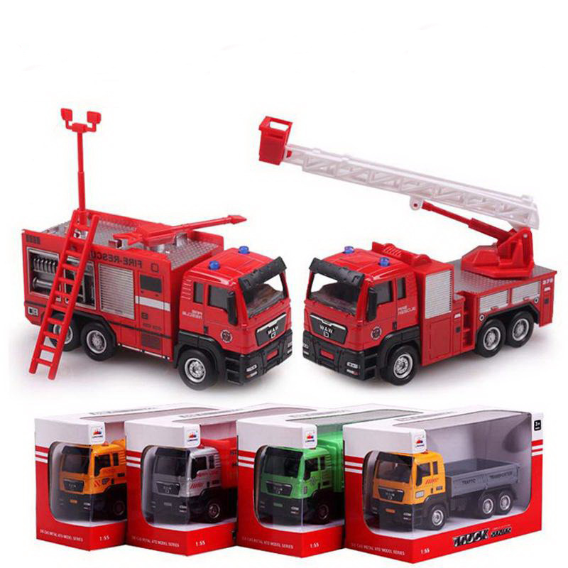1:55 scale alloy car models glide truck, mixed territory, fire engines, garbage, dump truck, ultra low-cost toys, wholesale(China (Mainland))