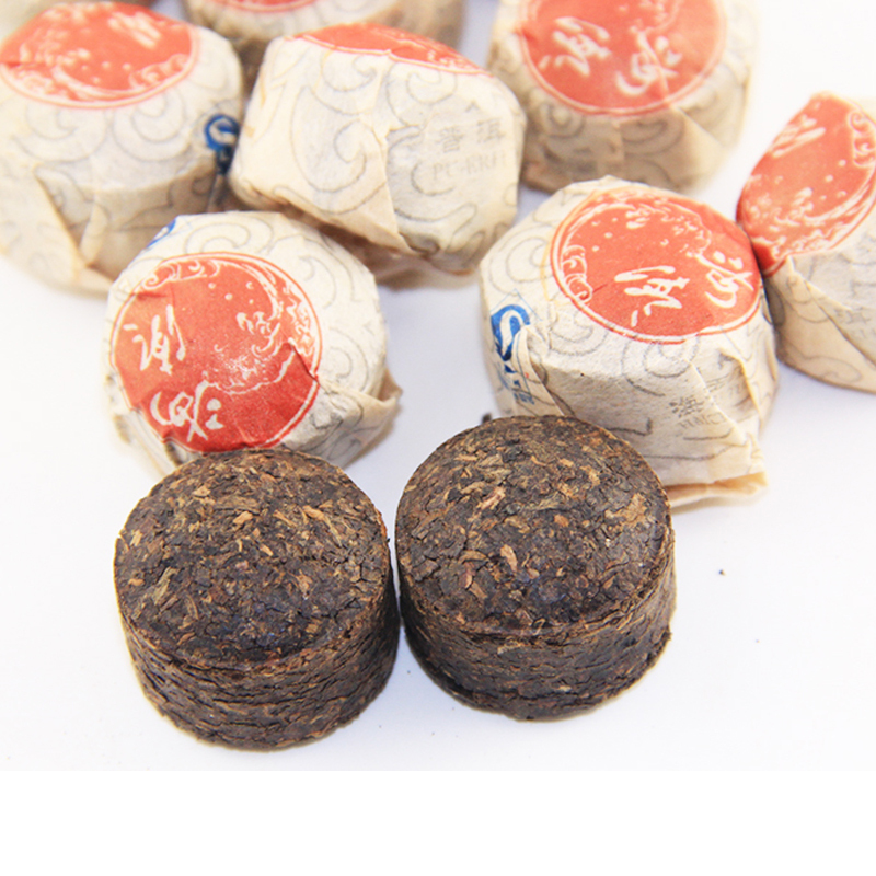 Chinese Yunnan mini puer tea 50g Menghai factory product top grade organic tea leaf Puerh Pu