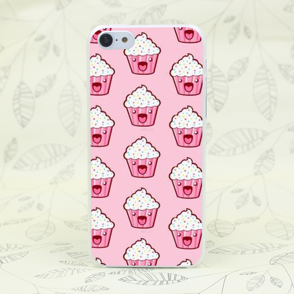 777W Fondos De Pantalla Backgrounds Cupcakes Hard Transparent for iPhone 4 4s 5 5s 5c SE 6 6s 7 7 Plus Case Protect Cover Skin(China (Mainland))
