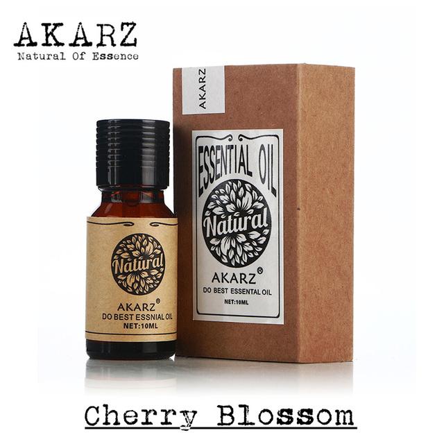 Известный бренд AKARZ pure natural Cherry blossom эфирное масло отбеливания кожи Восстановить упругость кожи Расслабиться Cherry blossom нефть