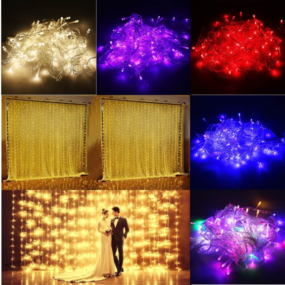 300 Lights String 110V 10W Window Curtain Icicle Wedding Party Decoration Fairy Light Led Home Garden Fairy String Light(China (Mainland))