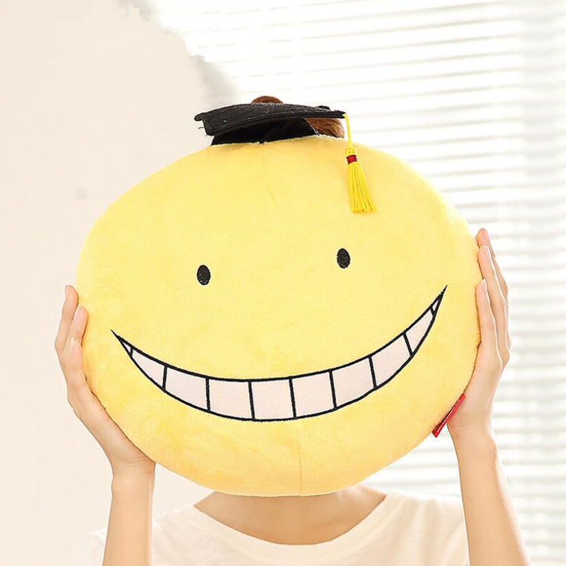 2016 Anime Plush Toy 2Types Assassination Classroom Koro Sensei Hugging Body Back Pillow Cute Cartoon Pillows Dolls(China (Mainland))