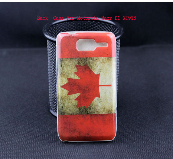Unique 1pc Retail Canada Flag Retro style Mobile Cover Case For Motorola Razr D1 XT918 High Quality 3D Phone Case(China (Mainland))