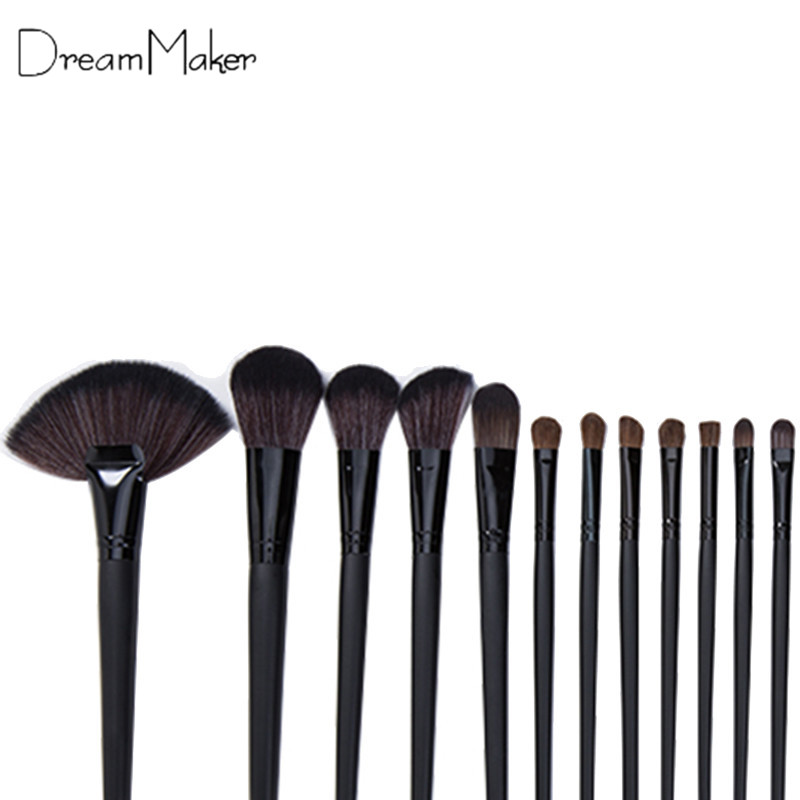 Dreammaker 32pcs Cosmetic Facial Make up Brush Kit Make up Brushes Tools Set with Black Pouch Bag<br><br>Aliexpress