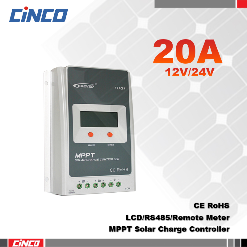 Tracer2210A 20A 12V/24 100V MPPT solar controller with LCD display RS485 remote control in computer for solar battery charger(China (Mainland))