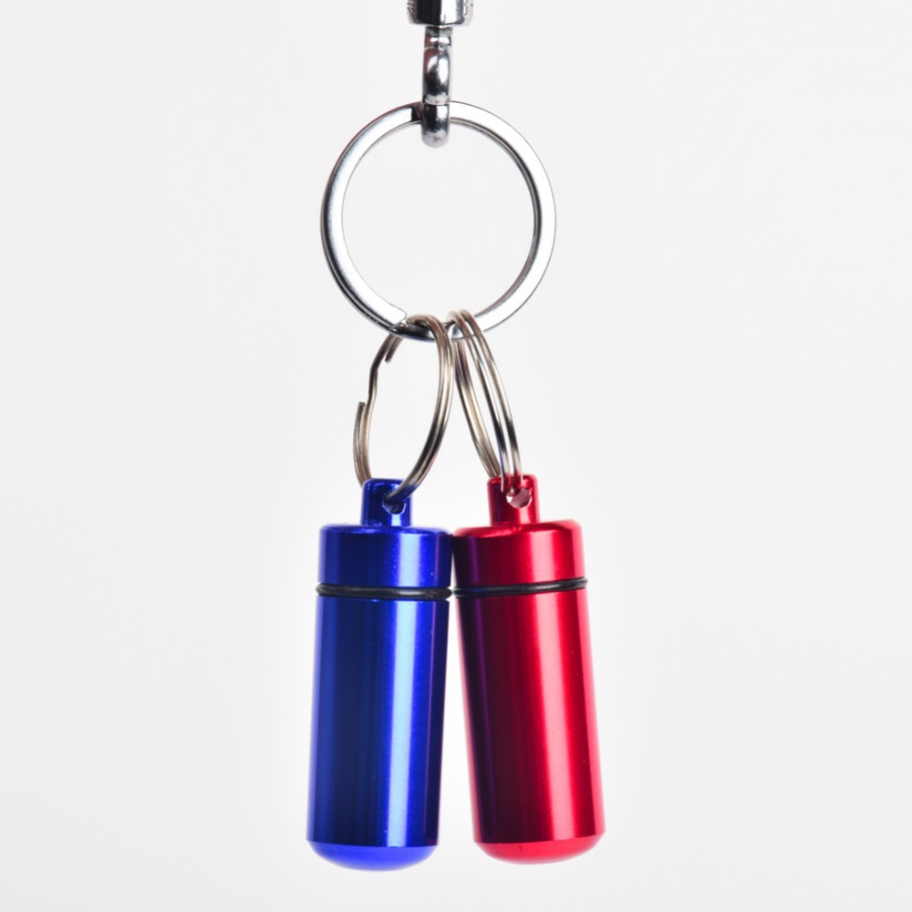 Pill Case AluminumWaterproof Pill Shaped Box Bottle Holder Container llaveros chaveiros Keychain medicine Keyring keychain box(China (Mainland))