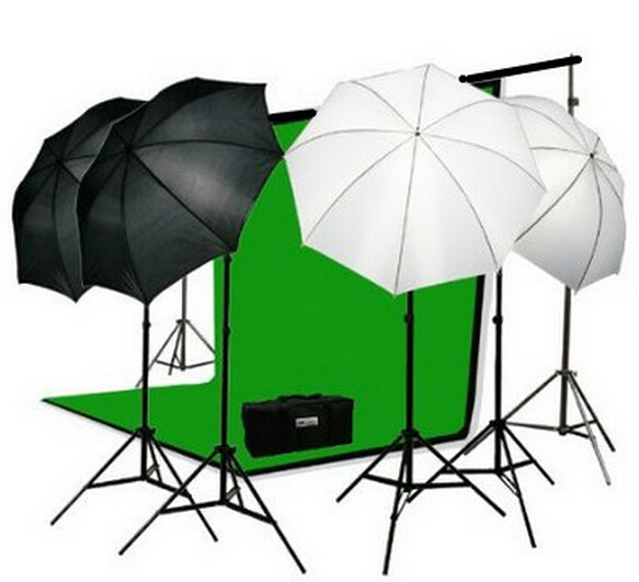 PS 2-04 10 X 12 FT Photo Studio Lighting Kit Muslin Backdrop and Background Stand Photography(China (Mainland))