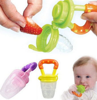 Baby Pacifier Clips Fruit Encapsulated Veggie Infant Feeder Theether Mini Chew Pacifiers Holder -- MKA09 PT05 Wholesale(China (Mainland))