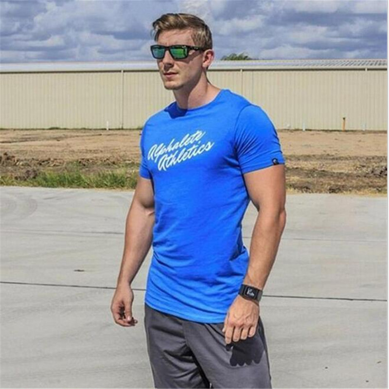 2015 Animal Printed Men's T Shirt Runing Golds Gym Bodybuilding T shirt 100%Cotton T-shirts for man HCOT slim fit male Top Tees(China (Mainland))