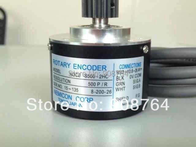 M038# Injection molding machine rotary encoder CNC veneer lathe machine //lathe cutting machine encoder output 500 pulses(China (Mainland))