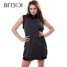 BFDADI Платья новые прямый продаж природный 2016 женщины без рукавов модное Платье свободного покроя съемный Hat молния платье бесплатная доставка большой размер 3330(China (Mainland))