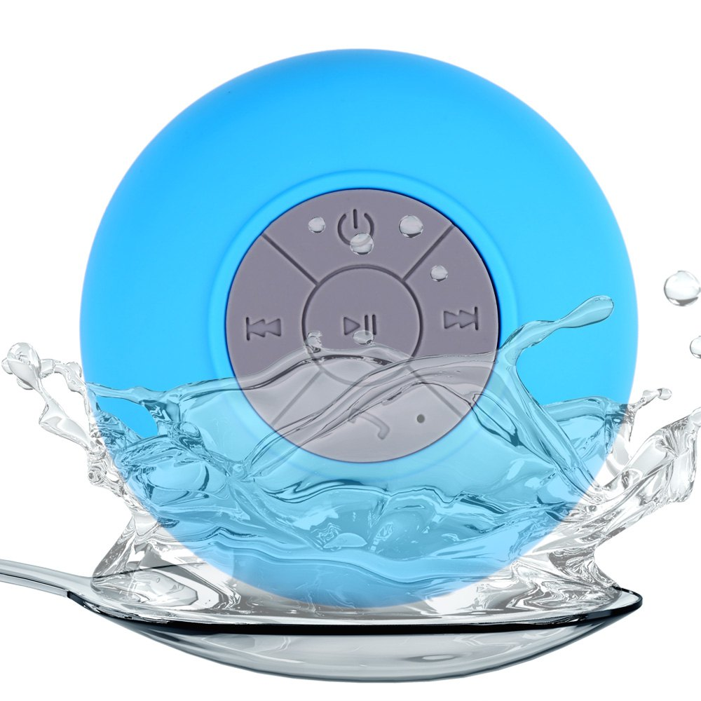 New Water Resistant BTS-06 mini portable Shower Bluetooth Speaker with Sucker Support Hands-free Calls Function for Mobile Phone(China (Mainland))