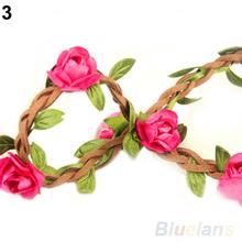 Boho Style Floral Flower Women Girls Hairband Headbands Festival Party Wedding 01NP 3DS2(China (Mainland))