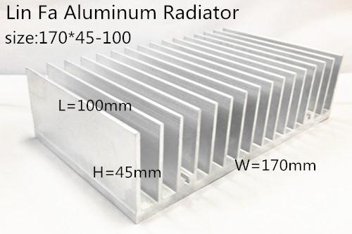 Aluminum/Aluminum radiator/Heat sink/100*170*45/Radiator aluminum profile radiator-fan computer case high power - YONGLINLVDIANKEJI Aluminum ET Store store