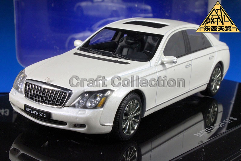 White 1:43 AutoArt AA Maybach 57 S SWB Alloy Car Model High-end Hot Sell Brand Minicar Luxury Gifts(China (Mainland))