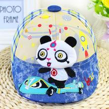 5Colors 2016 Summer Baseball Cap for Children 1-5years Grids Cotton Panda Baby Hats Fashion Adjustable Toddler Beret Hat LQJH021
