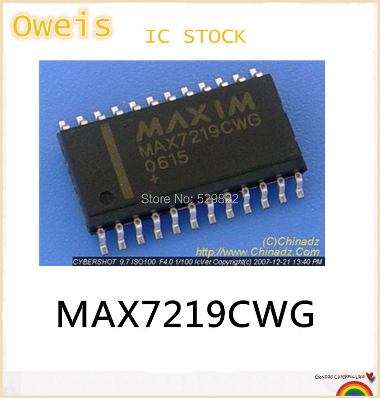 !5 MAX7219CWG MAX7219C MAX7219 IC DRIVER LED DISP 8DGT 24-SOIC hot sell. - STOCK store