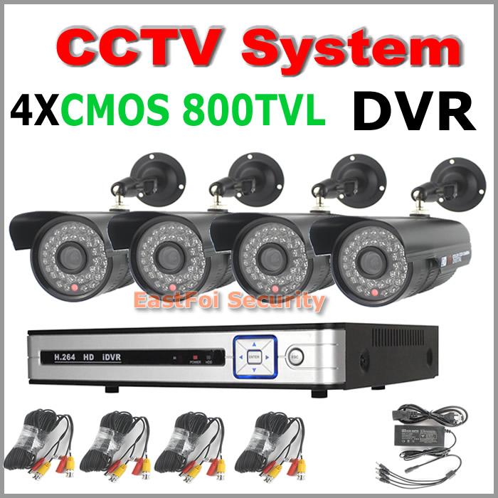 4CH CCTV System 800TVL 24h/7days outdoor night vision waterproof Surveillance camera &amp; 4ch HDMI H.264 960H Network DVR CCTV Kit<br><br>Aliexpress
