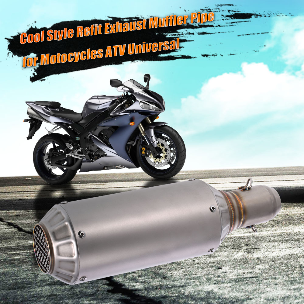 51mm Universal Motorcycle Exhaust Muffler Pipe for ATV Super Cool Frosted Surface with Net Tail(China (Mainland))