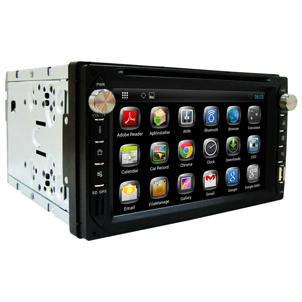 US stock 2 din Car DVD player car radio stereo Bluetooth Android 4.2 2Touch Screen GPS Navigation Antenna free back up camera(China (Mainland))
