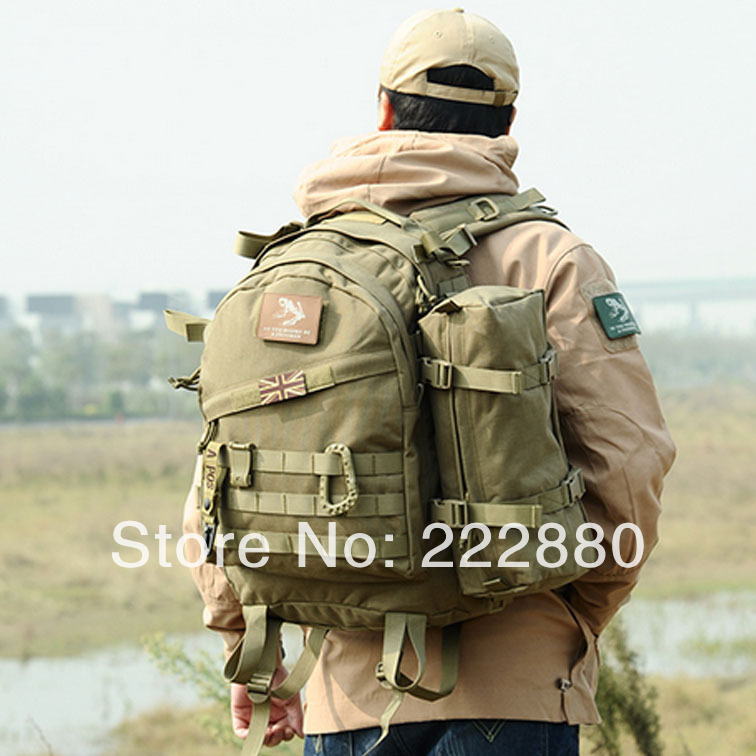 4 tactical Colors MOLLE 3D Military Tactical Backpack Rucksack Bag 40L for Camping Traveling Hiking Trekking 3-day backpack(China (Mainland))