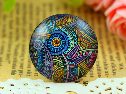 Free Shipping 2pcs 25mm Handmade Photo Glass Cabochons Color H-2738<br><br>Aliexpress