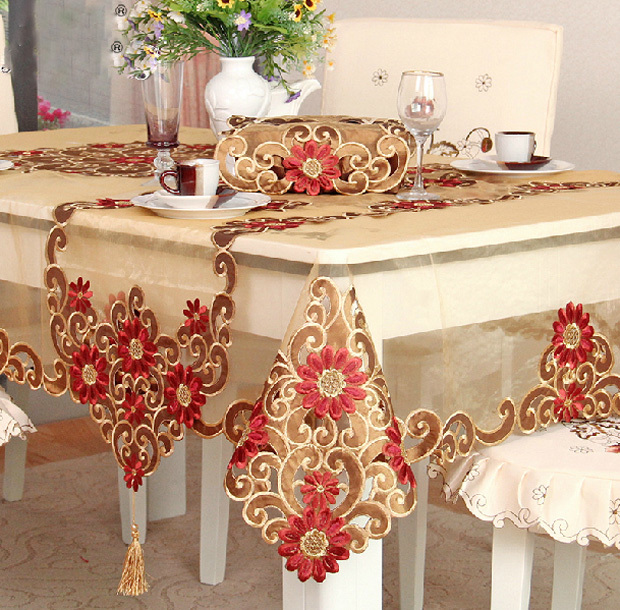 Table Cloth Covers Runner Flag For Wedding Decor Embroidered Embroidery Round Square Rectangular Crochet Dinner Tea Table Cover(China (Mainland))