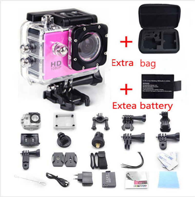 2016 New Arrival Go Pro Sport Action Camera Sj4000 W9 WiFi 1080P Full HD 2.0 LCD 12MP Diving 30M Waterproof +battery+Camera Bag<br><br>Aliexpress